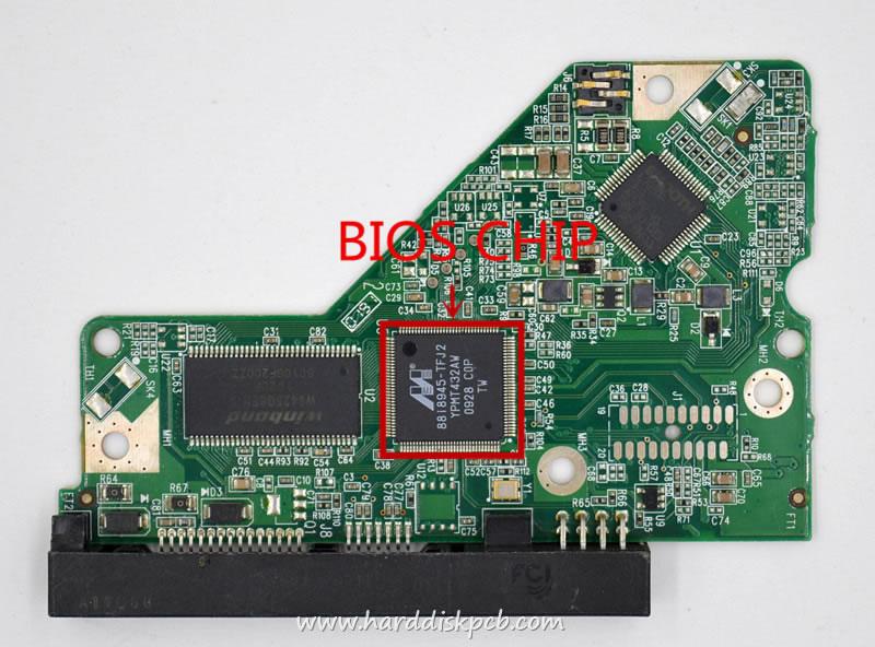 WD SATA 3.5 Leiterplatte 2061-701640-700 02P PCB WD10EADS-00P8B0
